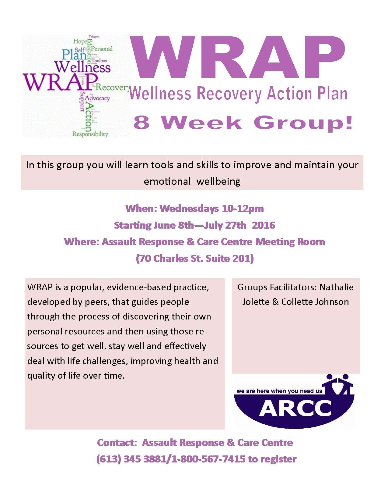 Calendar on Wellness Recovery Action Plan